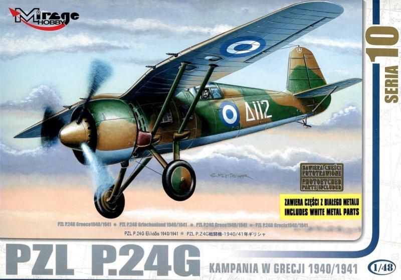 Mirage 481008 1/48 PZL P.24G 'Kampania w Grecji 1940/1941' [Re-edycja z częściami z Białego Metalu]