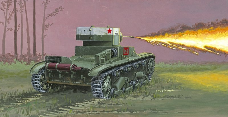 """Czołg chemiczny"" OT-130/1 ""Chemical tank"" ot-130/1  Cat. no. 72614  BAR CODE: 5901461726148"