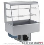 Witryna chłodnicza po łuku z roletą DM-94950.2R wym. 770x614x1429mm