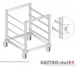 Wózek do transportu pojemników 1/1GN DM 3420 szerokość: 550 mm  (398x550x850)