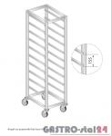 Regał na pojemniki lub tace na kółkach DM 3322/K  szerokość: 660 mm, wysokość: 1600 mm  (600x660x1600)