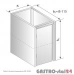 Moduł z drzwiami zawiasowymi DM 3108.1  szerokość: 485 mm  (400x485x650)