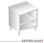 Stół z szafką otwartą i półką DM 3115 szerokość: 600 mm (600x600x850)