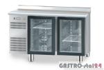 Stół chłodniczy z drzwiami przeszklonymi z płytą wierzchnią nierdzewną DM 94005 1325x600x850