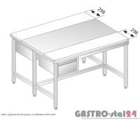 Stół z płytami do krojenia i szufladami DM 3107 szerokość: 1200 mm (1000x1200x850)