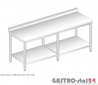 Stół do pracy z półką DM 3104 szerokość: 600 mm (2000x600x850)