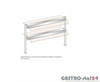 Nadstawka z szybą giętą dwupoziomowa z grzaniem i oświetleniem DM-94590 G-E wym. 2251x410x770