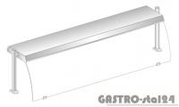 Nadstawka z oświetleniem diodowym i z grzaniem i oświetleniem halogenowo-kwarcowym DM 94580 DG-E 895x460x470