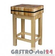 Kloc masarski drewniany na podstawie drewnianej 400x500x150