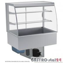 Witryna chłodnicza po łuku z roletą DM-94950.3R wym. 1095x714x1429mm