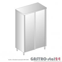 Szafa magazynowa z drzwiami suwanymi DM 3305 szerokość: 500 mm, wysokość: 2000 mm  (800x500x2000)