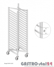 Regał DM 3325 szerokość: 660 mm, wysokość: 1800 mm  (600x660x1800)