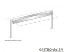 Nadstawka centralna z grzaniem i oświetleniem DM-94581 G-E wym. 2251x575x470
