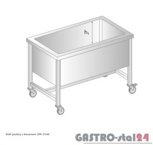 Stół jezdny z basenem DM 3240 szerokość: 700 mm, głębokość: 300 mm (800x700x850)