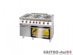 Kuchnia elektryczna z piekarnikiem elektrycznym 700.KE-6/PE-2/SD, 1200x700x900