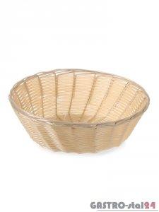 Koszyk okrągły z polirattanu - śr. 200x65 mm
