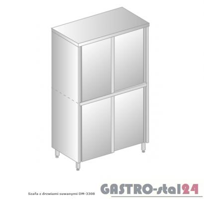 Szafa z drzwiami suwanymi DM 3308.02 szerokość: 600 mm, wysokość: 1800 mm (800x600x1800)