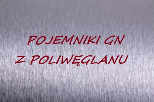 Pojemniki GN z poliwęglanu