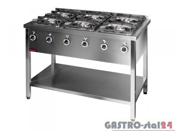 Kuchnia gazowa 6-palnikowa 000.KG-6L