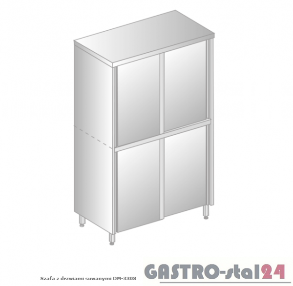 Szafa z drzwiami suwanymi DM 3308.02 szerokość: 700 mm, wysokość: 1800 mm (800x700x1800)