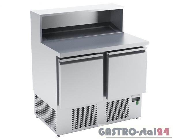 Stół chłodniczy do przygotowywania pizzy z płyta granitową płaską DM 94042 950x700x850/1120