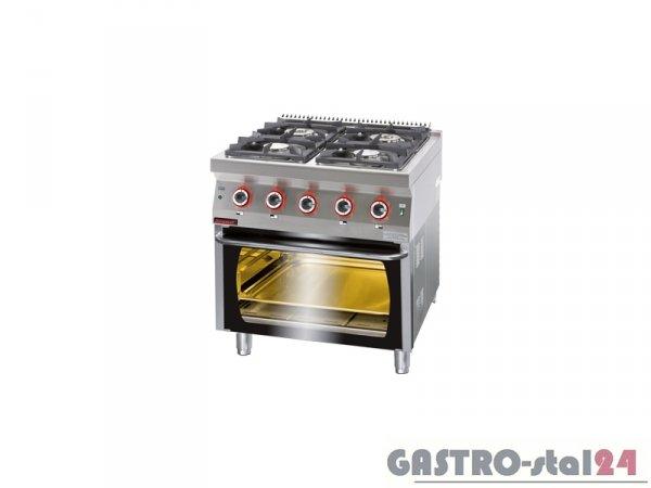 Kuchnia gazowa z piekarnikiem gazowym 700.KG-4/PG-2 800x700x900