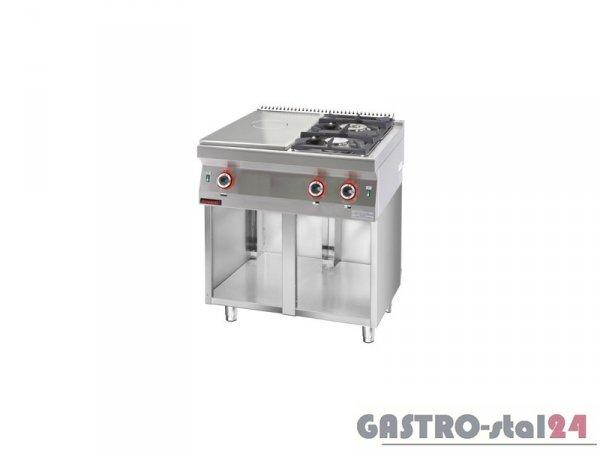 Kuchnia gazowa z płytą grzewczą 700.KG-2/I-400.S, 800x700x900