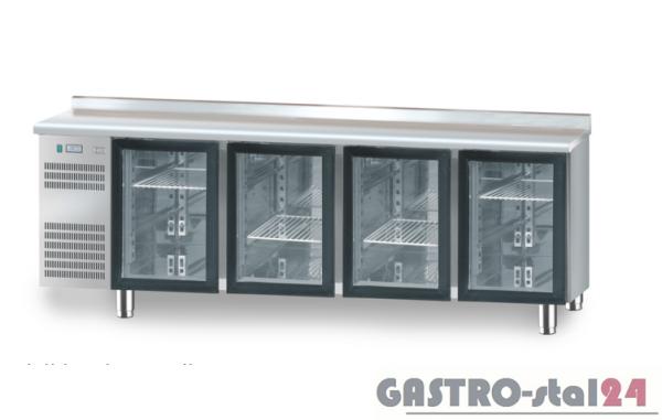 Stół chłodniczy z drzwiami przeszklonymi z płytą wierzchnią nierdzewną DM 94008 2325x600x850