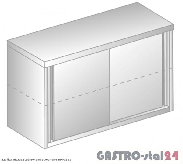 Szafka wisząca z drzwiami suwanymi nieprzelotowa DM 3316 N szerokość: 300 mm, wysokość: 600 mm (800x300x600)