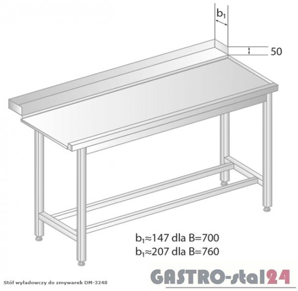 Stół wyładowczy do zmywarek DM 3248 szerokość: 700 mm  (800x700x850)