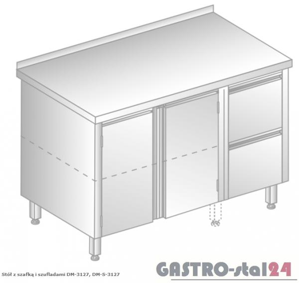 Stół z szafką i szufladami DM 3127 szerokość: 700 mm (1200x700x850)