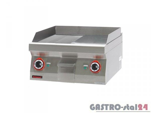 Płyta bezpośredniego smażenia 1/2 gł.+1/2 ryf. chromowana 700.PBE-600GR-C, 600x700x280