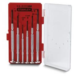 Zestaw metalowych wkrętaków zegarmistrzowskich Stanley 6szt. 1-66-039