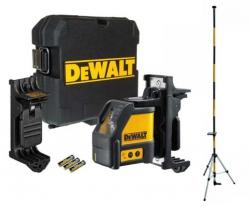 Laser krzyżowy DeWalt DW088K + STATYW, TYCZKA