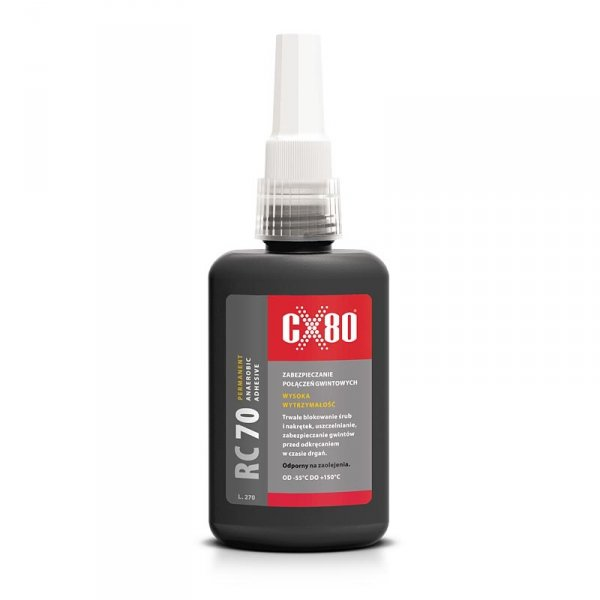 Klej anaerobowy do zabezpieczania metalowych połączeń CX80  RC70  50ml