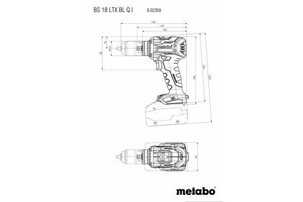 Wkrętarka Metabo BS 18 LTX BL Q I  PowerX3 602359770