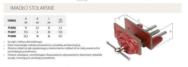 Imadło stolarskie PIHER 17.5CM P54007