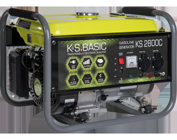 Agregat prądotwórczy benzyna z miedzianym uzwojeniem K&S BASIC KS 2800C  2.8 kW