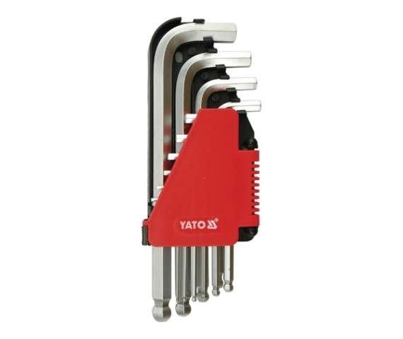 Klucze imbusowe hex kulka 2-12 mm 10 cz. YATO YT-0509