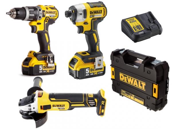 3 narzędziowy zestaw combo Dewalt 18V 2X5.0Ah