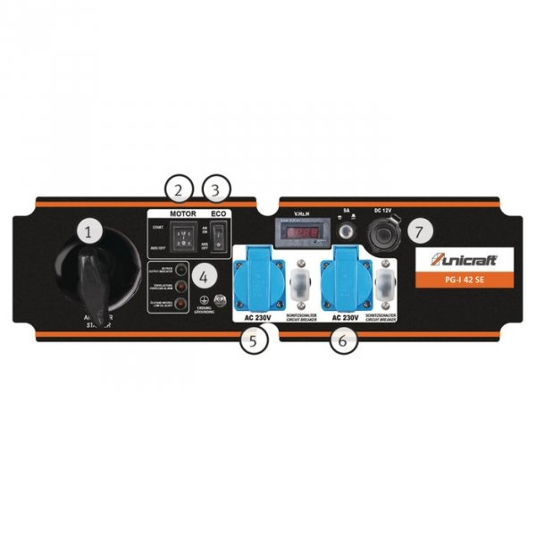 Inwertorowy agregat prądotwórczy Unicraft PG-I 42 SE 3,5kW