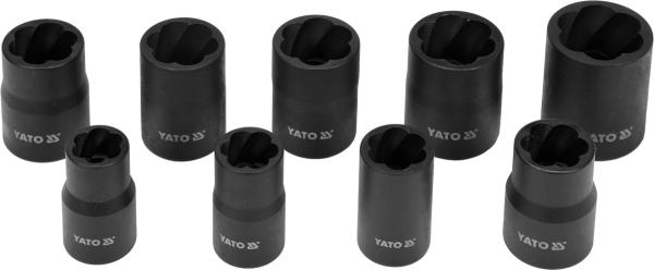 Wykrętaki do śrub 3/8'', 10-19mm kpl. 10 szt. Yato YT-0603