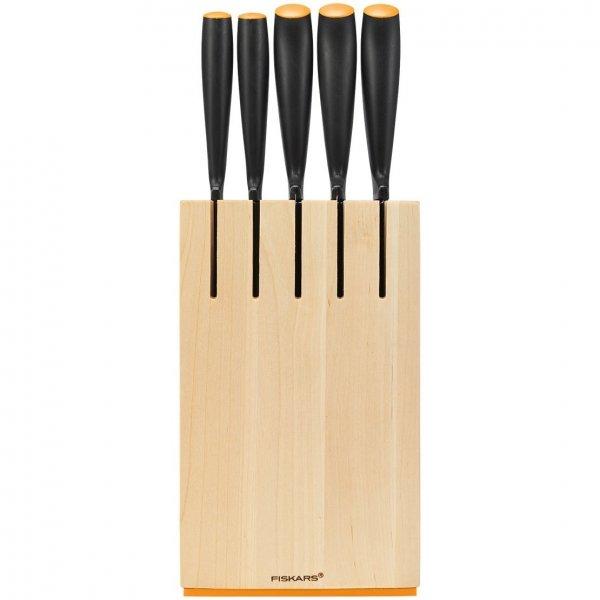 Zestaw 5 noży w drewnianym bloku Fiskars 1014211