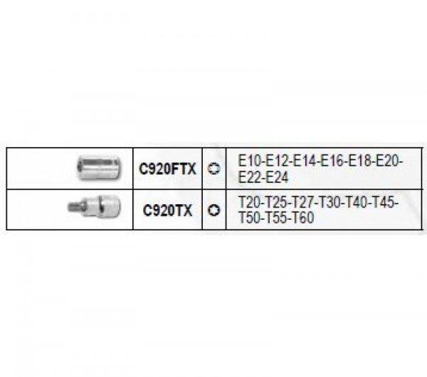 """Zestaw nasadek profil TORX I FTX z gniazdem 1/2"""" BETA EASY , 17 szt. 923E-FTX/C17"""