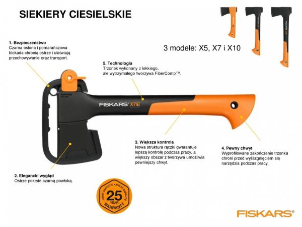 Siekiera ciesielska Fiskars X7 - XS 1015618