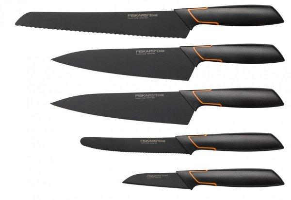 Zestaw 5 noży Edge w bloku Fiskars 1003099
