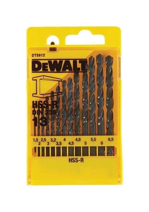 Wiertła do metalu DeWalt DT5912 hss-r zestaw 13 szt.