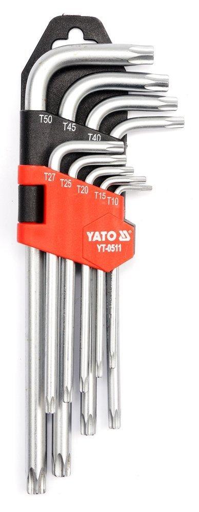 Klucze imbusowe torx t10-t50, 9 cz. Yato YT-0511
