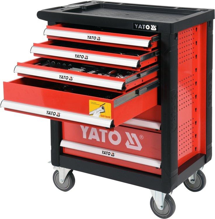 120519b9a687c9 Wózek narzędziowy Yato z zestawem narzędzi 185 cz. YT-55307 ...