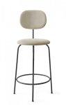Menu AFTEROOM Krzesło Barowe 92 cm Hoker Czarny Tapicerowany - Tkanina Savanna 202